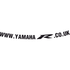 www.YamahaR.co.uk visor decal V1