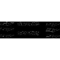 SV curved suzuki logos