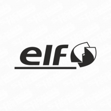 Elf Modern Logo Sticker