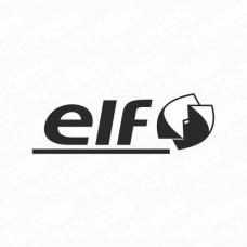 Elf Modern Logo Sticker