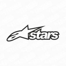 Alpinestars A-Stars Logo Sticker