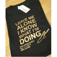 Kimi Raikkonen Quote 'Leave me alone' Men's T-Shirt