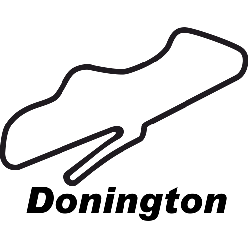 donington park circuit outline