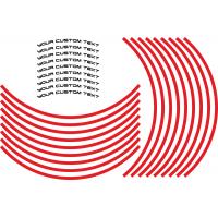 Custom Wheel lettering with stripe