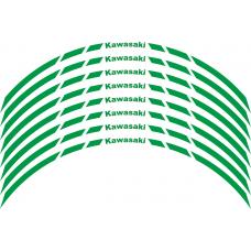Kawasaki Wheel stripes 8mm