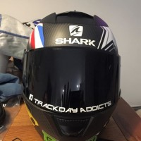 Trackday Addicts visor decals