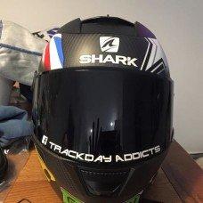 Trackday Addicts visor decals