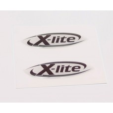 X Lite domed visor decal
