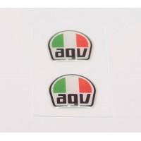 AGV Tri Colour domed visor decal