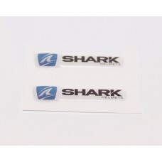 Shark logo domed visor decal